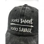 Waldeal Women's Adjustable Sorta Sweet Sorta Savage Dad Hat Funny Vintage Baseball Cap