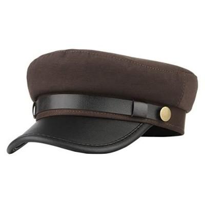 GEMVIE Unisex Classic British Flat Top Fisherman Hat Cotton Breton Fiddler Hat