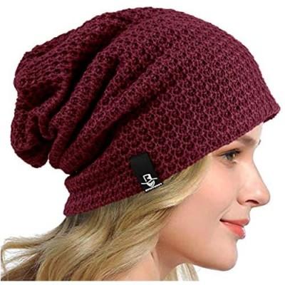 HISSHE Women's Slouchy Beanie Knit Beret Skull Cap Baggy Winter Summer Hat B08w