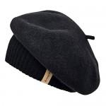 Krono Krown Womens French Beret Winter Wool Knitted Beanies Cap Hat -100% Wool Elastically Adjustable