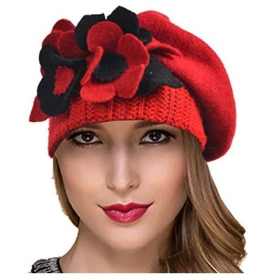 Ruphedy Womens Wool Beret Winter Dress French Beret Chic Beanie Hats Hy022