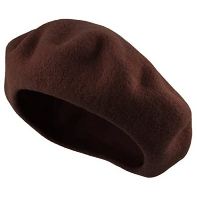 Traditional Women's Men's Solid Color Plain Wool French Beret One Size