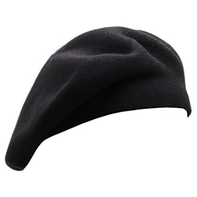 Wheebo French Beret Hat Reversible Solid Color Cashmere Beret Cap for Womens Girls Lady Adults