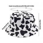 LEIDAI Cute Bucket Hat Beach Fisherman Hats for Women Reversible Double-Side-Wear