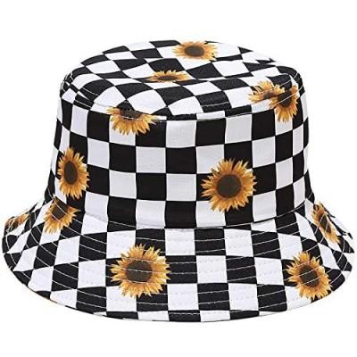 Malaxlx Unisex Bucket Hat Beach Sun Hat Aesthetic Fishing Hat for Women Men Teens