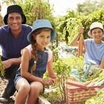 SATINIOR 4 Pieces Bucket Hat Denim Packable Travel Hat Washed Beach Fishing Hat for Men Women Kids (Black White Dark Blue Light Blue 60 cm)
