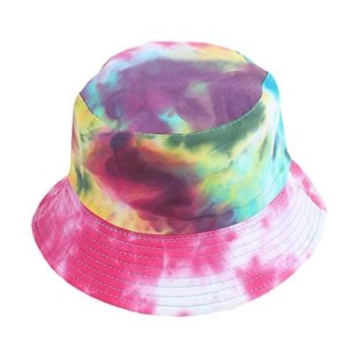 Surkat Reversible Bucket Hat  Women Cotton Fisherman Hat Sun Protection Packable for Summer Outdoor Traveling