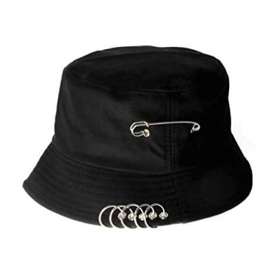 VIVICMW Bucket Hats Unisex Iron Ring Hoop Folding Fisherman's Hat Sun Protection Sun Hat Summer Outdoor Cap