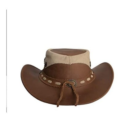 Real Leather Western Style Hat Australian New Cowboy Chin Strap Plain Hats