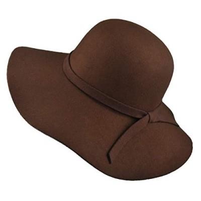 EINSKEY Womens Floppy Hat  Wool Felt Wide Brim Sun Hat Fedora Cloche Bowler Cap