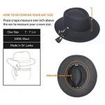 Forever Sun 100% Wool Felt Fashion Party Travel Porkpie/Fedora Hat for Women-Regular/Wide Brim Adjustable Size