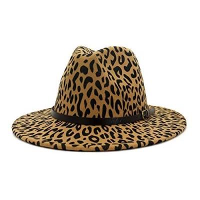 HUDANHUWEI Men & Women's Wide Brim Fedora Hat with Band Unisex Felt Panama Cap