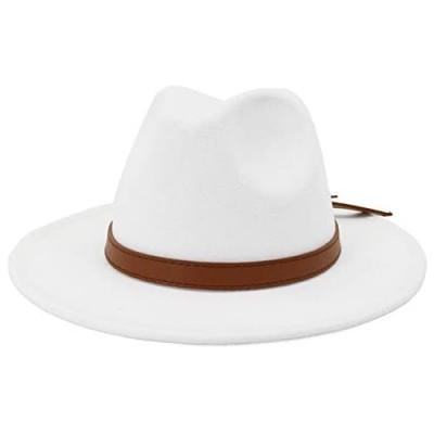 Lisianthus Women Vintage Wide Brim Fedora Hat