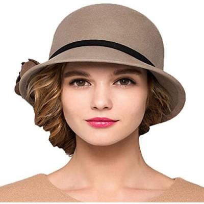 Maitose Women's Bow Wool Felt Bucket Hat