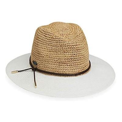 Wallaroo Hat Company Women's Laguna Fedora – Two-Toned  Broad Brim  Adjustable  Elegant Style  Designed in Australia