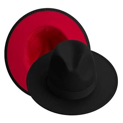 Wide Brim Fedora Hats for Women  Classic Two Tone Felt Fedora Hats for Men