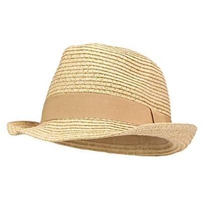 Women's Stretch Fit Paper Straw Fedora Hat