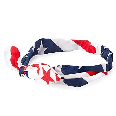 American Flag Bowknot Headband  Accessories for Women (One Size  12 Pack)