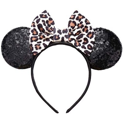 JIAHANG Mouse Ears Bow Headband Sequin Hair Hoop  Party Decoration Costume Accessories for Girls Women