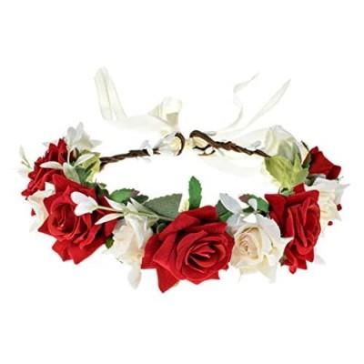 Love Sweety Rose Flower Headband Floral Crown Garland Halo