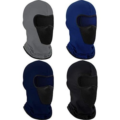 4 Pieces Summer Balaclava Face Mask Sun Dust Windproof Protection Mask Breathable Full Face Cover for Outdoor Activitie