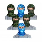 6 Pieces Balaclava Mask Ice Silk UV Protection Full-face Mask for Women and Men Outdoor Sports (Color Set 5)