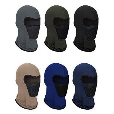 6 Pieces Summer Balaclava Face Mask Breathable Sun Dust Protection Mask Long Neck Cover for Outdoor Activities