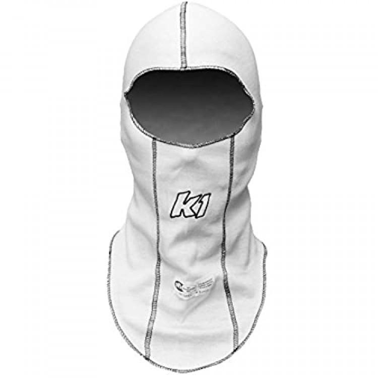 K1 Race Gear Single Layer Nomex Head Sock/Balaclava (White) (26-SLH-W)