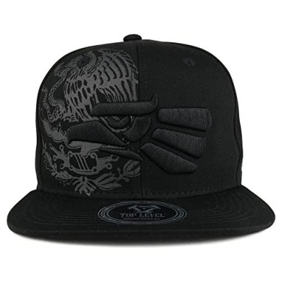Hecho En Mexico Eagle 3D Embroidered Flat Bill Snapback Cap