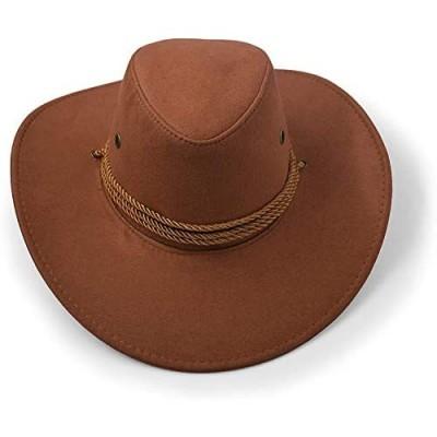 Adult Cowboy Hat Sun Hat Faux Felt Travel Cap Western Hat Outdoor Sun Protect