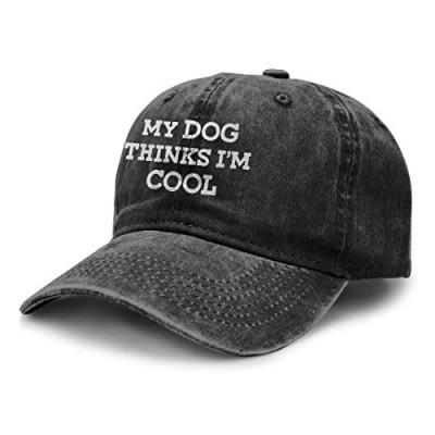CUTEDWARF My Dog Thinks I'm Cool Adult Cowboy Hat Outdoor Activities Cowboy Hat Trucker Cowboy Hat Retro Adjustable