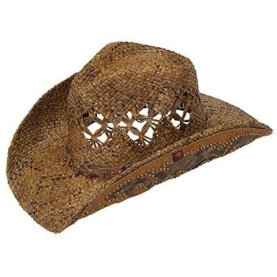 Peter Grimm Jarales Drifter Straw Cowboy Hat Brown