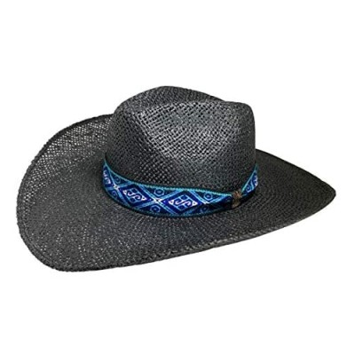 San Andreas Exports  Indiana Eastwood Cowboy Hat Handmade from Wood Pulp Raffia
