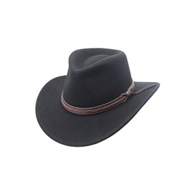 Sturgis Crushable Wool Felt Outback Western Style Cowboy Hat by Silver Canyon