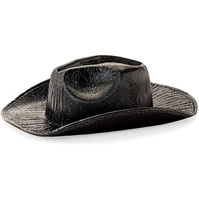 Zodaca Metallic Party Cowboy Hat  Space Cowboy (Black  Unisex)