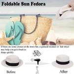FORBUSITE Men Women Fedora Sun Hats Wide Brim Foldable Style UPF50+