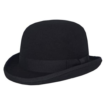 Men Women Wool Derby Bowler Hat Magic Theater Top Topper Hats Party Costumes