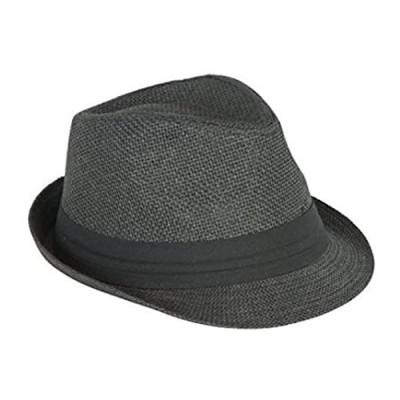 The Hatter Men's Big Size Summer Cool Straw Fedora Hat