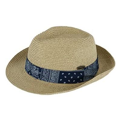 Tidal Tom Men's UPF 50+ Fedora Hat with Bandana Print Band