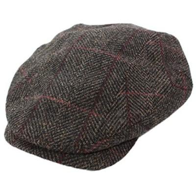Biddy Murphy Men's Irish Tweed Cap 100% Wool Brown Plaid Made in Ireland