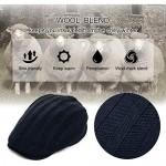 Jeff & Aimy Mens Wool Blend Knit Newsboy Cap Fitted Winter Irish Ivy Cabbie Golf Flat Hat 57-61CM