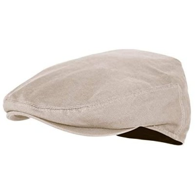 Premium Cotton Newsboy Mens Scally Foldable Solid Color Ivy Flat Cap