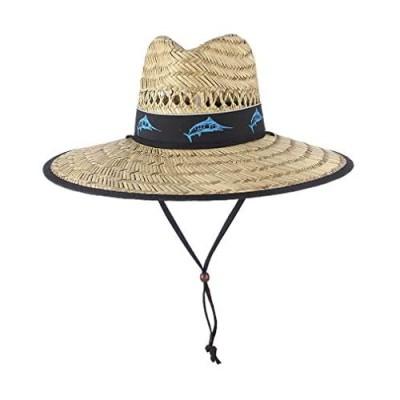 Men's Straw Sun Hat Wide Brim Summer Lifeguard Beach Hats Outdoor Travel Women