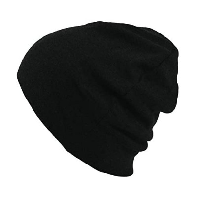 CHARM Mens Organic Cotton Beanie - Womens Slouchy Knit Hat Made in Japan