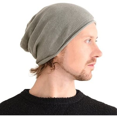 CHARM Silk Beanie Hat for Men and Women - Slouchy Oversized Chemo Hat Sensitive Skin
