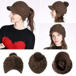 Comhats 50%/100% Wool Newsboy Cap Winter Hat Visor Beret Cold Weather Knitted