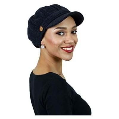 Newsboy Cap for Women Cancer Headwear Chemo Hat Ladies Head Coverings Tweed Corduroy Chenille