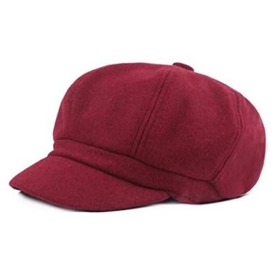 Women Vintage Newsboy Cabbie Peaked Beret Cap Warm Baker Boy Visor Hat Flat Cap