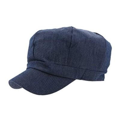 Women's Classic Denim Newsboy Cap Hat with Visor