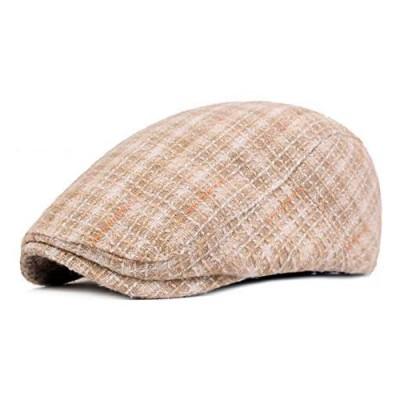 ZLSLZ Womens Cute Plaid Newsboy Cabbie Gatsby Golf Visor Hat Cap for Outerwear